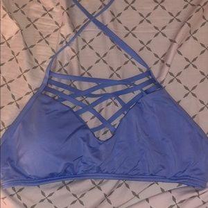 Cute blue bikini top